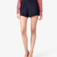 Essential Pleated Georgette Shorts | FOREVER 21 - 2030187016