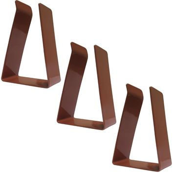 Evelots Set Of 3 Replacement Clips For Magnetic Door Draft Stopper, Brown