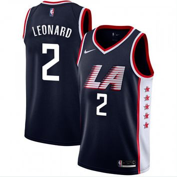 Men's LA Clippers Kawhi Leonard Nike Navy 2019/20 Swingman Jersey – City Edition - Best Deal Online