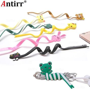 Cartoon Multi functional Earphone Usb Cable Winder PC Data line Collation Management clip phone Wire Cord Organizer protector