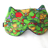 Ninja Turtle  Eye mask, Kids Sleep mask, eye sleep mask, Kitty eye mask, Cat eye mask.