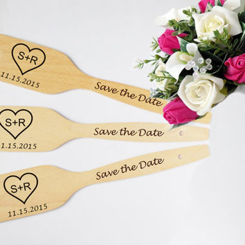 Wedding favor Personalized wooden Wedding spoon handmade engraved spoons Saved the Date or Wedding Gift engagement gift for couple SET OF 25