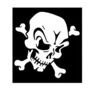 Skull of Terror Automobile Tablet Decal Tablet PC Sticker Wall Laptop mobile truck Notebook macbook Iphone Ipad Car Window Decal