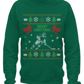 Hockey - Ugly Christmas Sweater Printed hockey