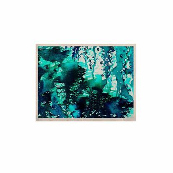 """Ebi Emporium """"The Perfect Storm - Turquoise"""" Blue Teal Painting KESS Naturals Canvas (Frame not Included)"""