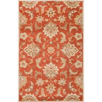 Mythos Coll. Hand-Tufted Durable Wool Red/Gray Abers Area Rug (8 x 10)