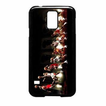 DCKL9 Michael Jordan NBA Chicago Bulls Dunk Samsung Galaxy S5 Case