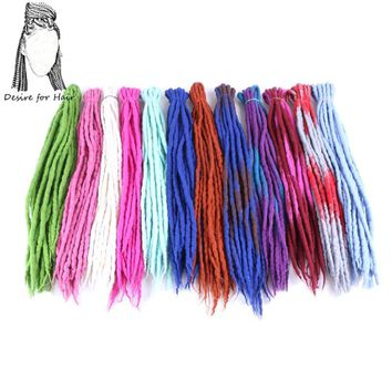 Desire for hair 1bundle 10strands 90cm-120cm long Nepal felted wool synthetic dreadlocks braids hair for kids and adult