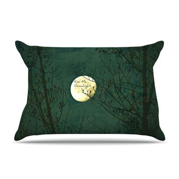 "Robin Dickinson ""Kiss Me Goodnight"" Pillow Case"