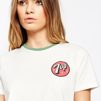 ASOS T-Shirt In Boyfriend Fit With 7 Up Print