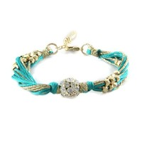 Golden Locks Bracelet in Mint