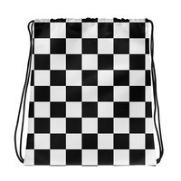 Checkerboard Drawstring Bag