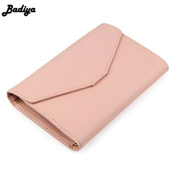 New Fashion Envelope Wallet Purse PU Leather Design Wallets Solid Women Wallet For Travel Phone Bags Hit Colors Lady Purse