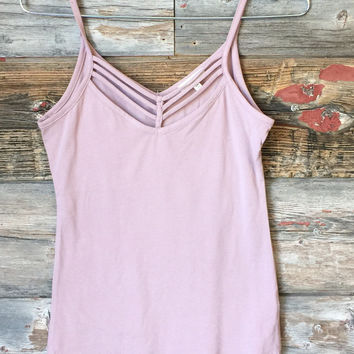 Sun Kissed Tank Top: Dusty Rose