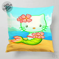 Hello Kitty Mermaids Pillow Case, Chusion Cover ( 1 or 2 Side Print With Size 16, 18, 20, 26, 30, 36 inch )