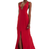 Sweet Escape Maxi Dress (Cherry Red)