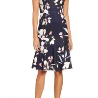 Vince Camuto Stretch Fit & Flare Dress | Nordstrom