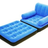 Flocked Inflatable Sofa Chair