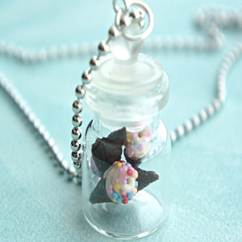 Vanilla Ice Cream in a Jar Necklace