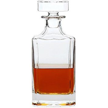Lilys Home Glass Decanter with Glass Stopper Let Your Favorite Vintages Breathe with this Beautifully Stylish and Functional Piece 26 Ounces
