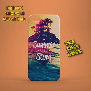PINK SUMMER STORY Design Custom Phone Case for iPhone 6 6 Plus iPhone 5 5s 5c iphone 4 4s Samsung Galaxy S3 S4 S5 Note3 Note4 Fast!