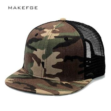 Trendy Winter Jacket Brands trucker hats summer Camouflage snapback polyester cap blank flat camo baseball cap with mens cap and women AT_92_12