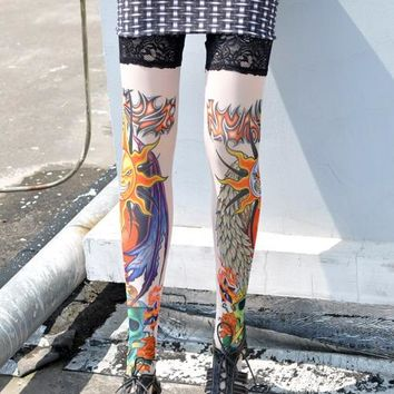 Sun and Moon Tattoo Stockings