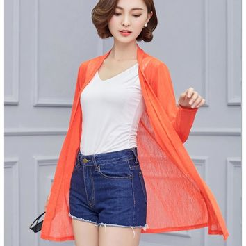 Women Spring Summer Cardigan Long Sleeve Blouse Shirt Woman Sweater Casual Crochet Poncho Clothing Blusas Plus Size Tops