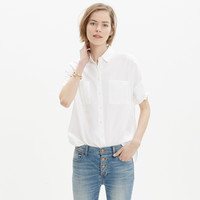 White Cotton Courier Shirt