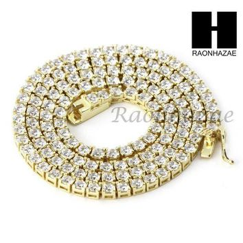 925 Sterling Silver Tennis Chain Diamond Cut 17' Cuban Link Choker Necklace S01