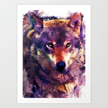 wolf art #wolf #animals Art Print by jbjart