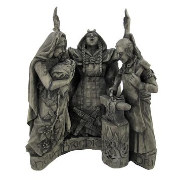 Celtic Goddess Brigid Statue Pagan Wicca Dryad Designs (Size: One Size, Color: Gray)