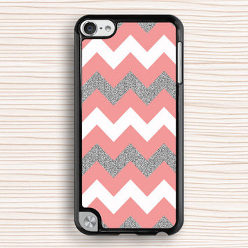 pink chevron ipod case,silver ipod touch 4 case,girl's ipod touch 5 case,pink chevron ipod 4 case,fashion ipod 5 case,personalized touch 4 case,silver chevron touch 5 case