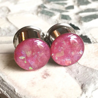 Plug Earrings, Ear Guages, Plugs and Tunnels - sizes 4g, 2g, 0g, 00g, 7/16, 1/2, 9/16, 5/8, 3/4, 7/8, 1""