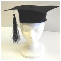 Black Deluxe Graduation Cap with Tassel