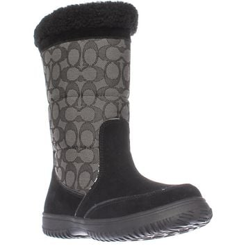 Coach Sherman Signature Cold Weather Boots, Black/Black Smoke, 6 US / 36 EU
