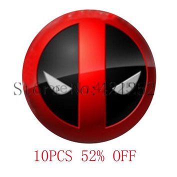Deadpool Dead pool Taco  Inspired Glass Photo Cabochon Necklace keyring bookmark cufflink earring AT_70_6