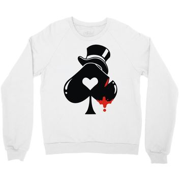 poker hat ace of spades Crewneck Sweatshirt