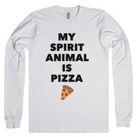 Pizza Spirit Animal-Unisex White T-Shirt