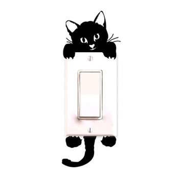 Fashion Heaven New Cat Wall Stickers Light Switch Decor Decals Art Mural Baby Nursery Room jun 15