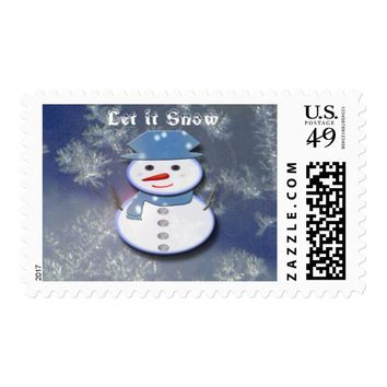 Pure White Snowman Postage