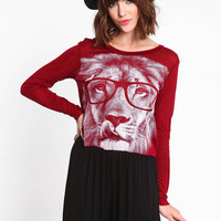 INTELLIGENT LION CROP TOP