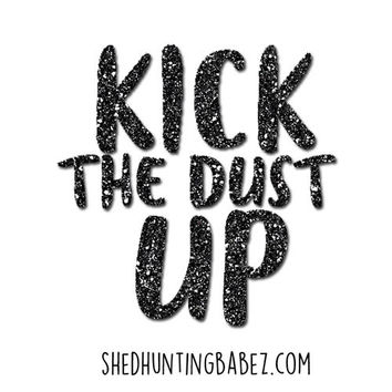 Kick The Dust Up Black Super Sparkly Glitter Decal