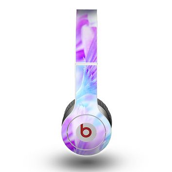 The Vibrant Blue & Purple Flower Field Skin for the Beats by Dre Original Solo-Solo HD Headphones