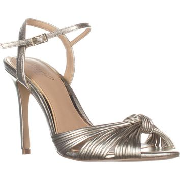 Jewel by Badgley Mischka Lady Knot Sandals, Gold, 8.5 US