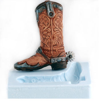 Cowboy Boot Silicone Mold - Soap Mold - Candle Mold - Resin Mold - Craft Mold - Paper Mold - Polymer Clay Mold - Flexible Mold