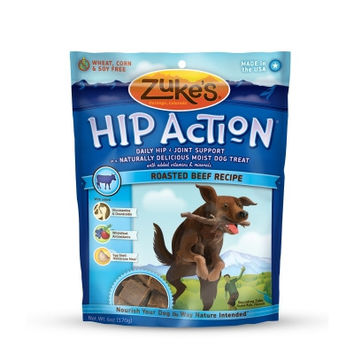 Zuke's Hip Action Joint Support Beef Natural Dog Treats USA Made 6 oz