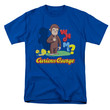 Curious George Men's  Who Me T-shirt Royal