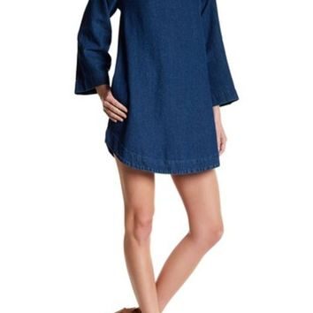 Rolla's | Liberty Mock Neck Denim Dress