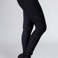Black Lace Jeggings